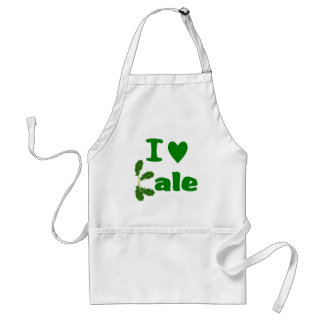 I Love Kale (I Heart Kale) Vegetable/Gardener Standard Apron