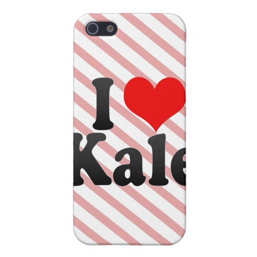 I love Kale iPhone 5 Cases