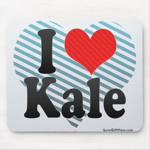 I Love Kale Mousepads