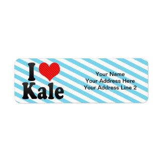 I Love Kale Return Address Label