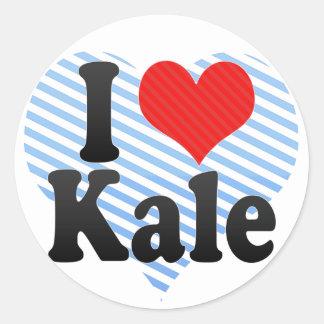 I Love Kale Round Sticker