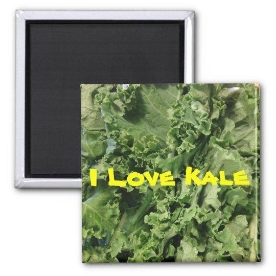 I Love Kale Square Magnet