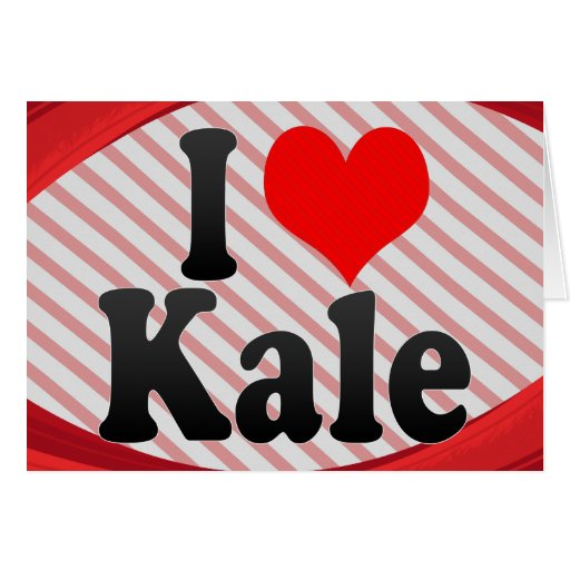 I love Kale Stationery Note Card