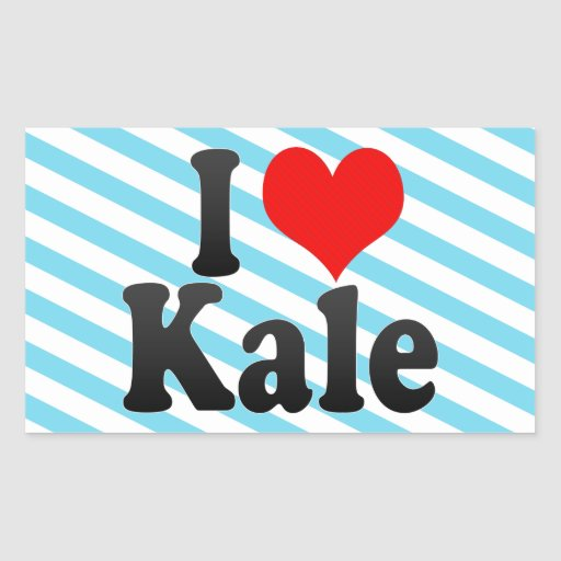 I love Kale Rectangle Stickers
