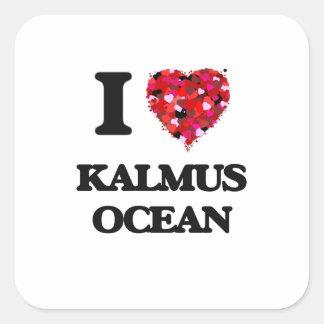 I love Kalmus Ocean Massachusetts Square Sticker