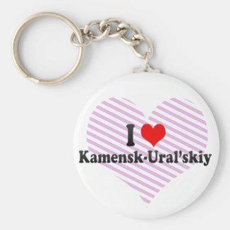 I Love Kamensk-Ural skiy Russia Keychains