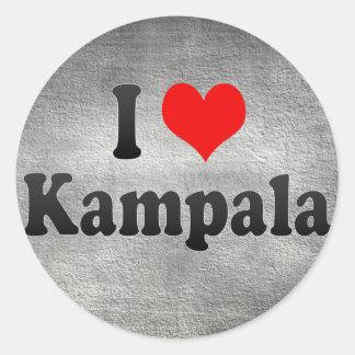 I Love Kampala, Uganda Round Stickers