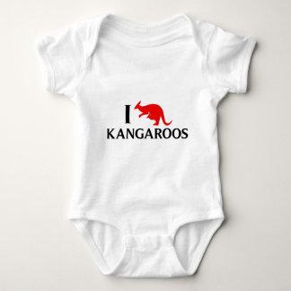 I Love Kangaroos Baby Bodysuit
