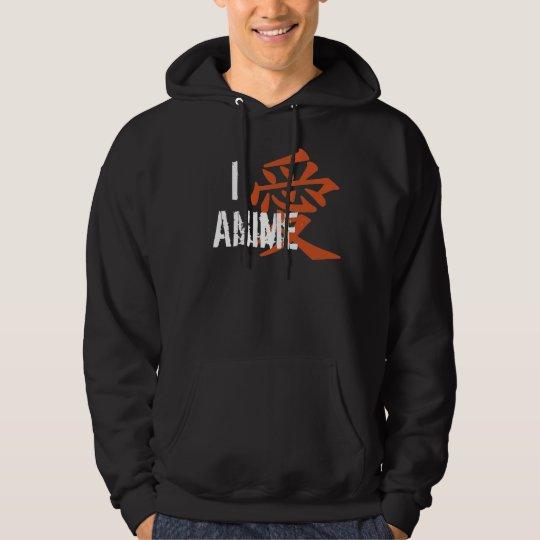 I Love (kanji) Anime Hoodie