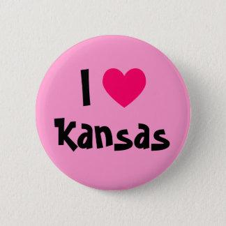 I Love Kansas 6 Cm Round Badge