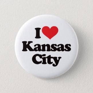 I Love Kansas City 6 Cm Round Badge