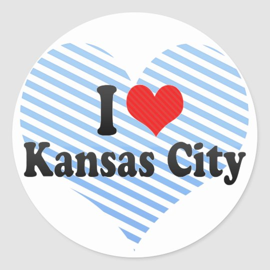 I Love Kansas City Classic Round Sticker