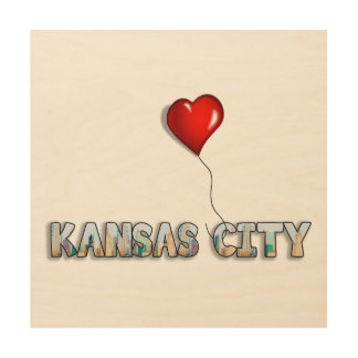 I Love Kansas City with KC Skyline Inside Letters Wood Wall Decor