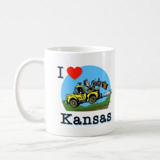 I Love Kansas Country Taxi Basic White Mug