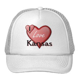 I Love Kansas Trucker Hats