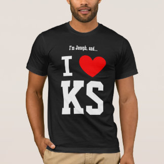 I Love Kansas or Any City or State Red Heart T-Shirt