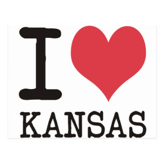 I Love Kansas - Products & Designs! Postcard