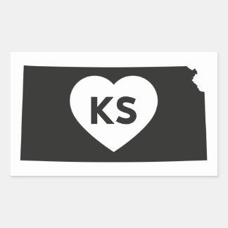 I Love Kansas State Stickers