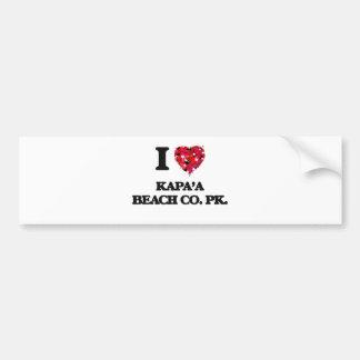 I love Kapa'A Beach Co. Pk. Hawaii Bumper Sticker