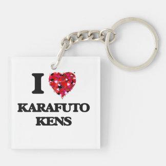I love Karafuto Kens Double-Sided Square Acrylic Key Ring