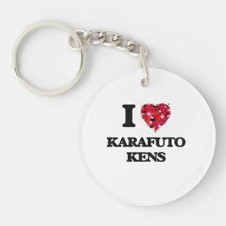 I love Karafuto Kens Single-Sided Round Acrylic Key Ring