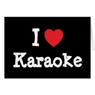 I love Karaoke heart custom personalized Greeting Card