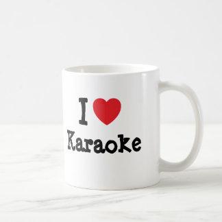I love Karaoke heart custom personalized Coffee Mug