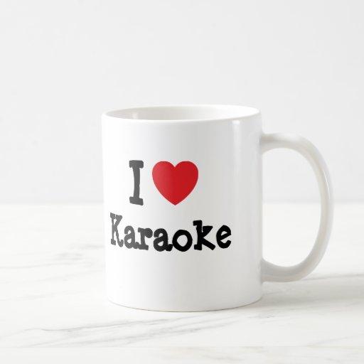 I love Karaoke heart custom personalized Coffee Mugs