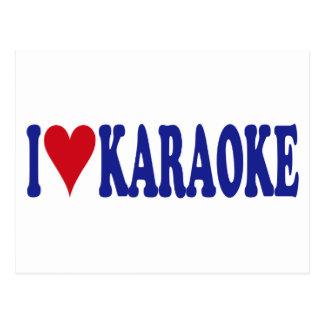 I Love Karaoke Postcard