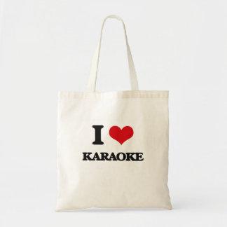 I Love Karaoke Canvas Bag