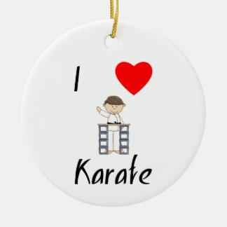 I Love Karate (3) Round Ceramic Decoration