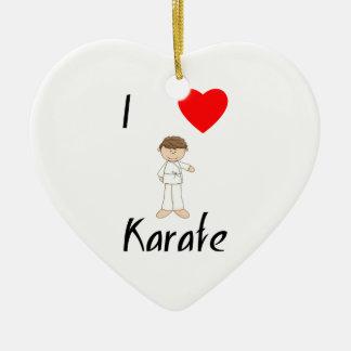 I Love Karate (4) Ceramic Heart Decoration
