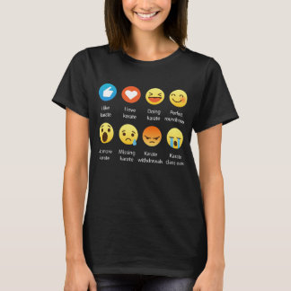 I Love Karate Emoji Emoticon Graphic Tee Shirt