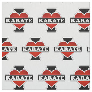 I Love Karate Fabric
