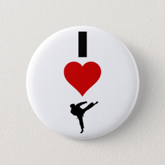 I Love Karate (Vertical) 6 Cm Round Badge