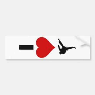 I Love Karate (Vertical) Bumper Sticker