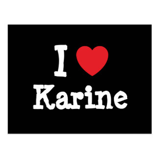 I love Karine heart T-Shirt Postcard