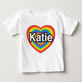 I love Katie. I love you Katie. Heart Baby T-Shirt