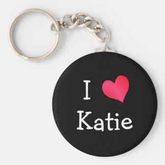 I Love Katie Key Ring
