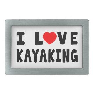 I Love Kayaking Rectangular Belt Buckles