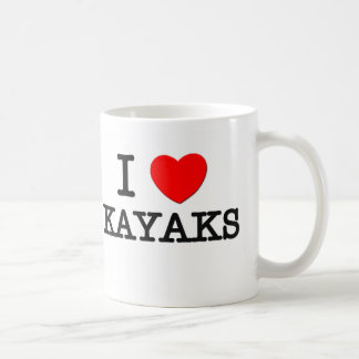 I Love Kayaks Basic White Mug