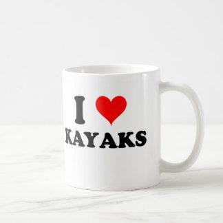 I Love Kayaks Mugs