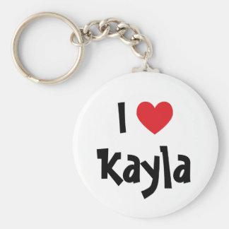 I Love Kayla Keychain
