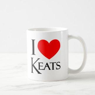 I Love Keats Coffee Mugs