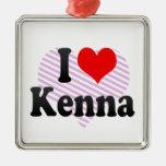 I love Kenna Christmas Ornament