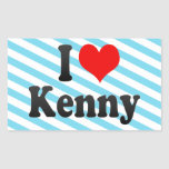 I love Kenny Rectangular Stickers