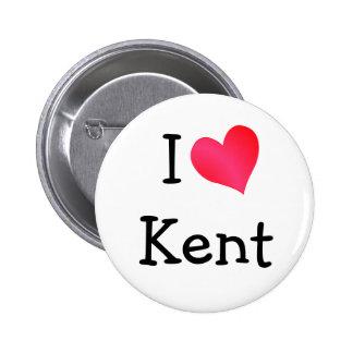 I Love Kent 6 Cm Round Badge