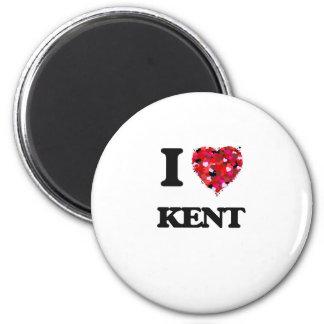 I Love Kent 6 Cm Round Magnet
