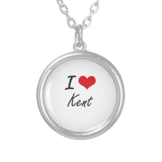 I Love Kent Round Pendant Necklace