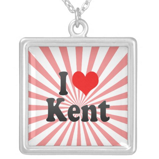I Love Kent, United States Custom Jewelry